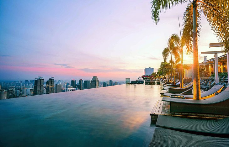 Marina Bay Sands Hotel Rooftop Pool