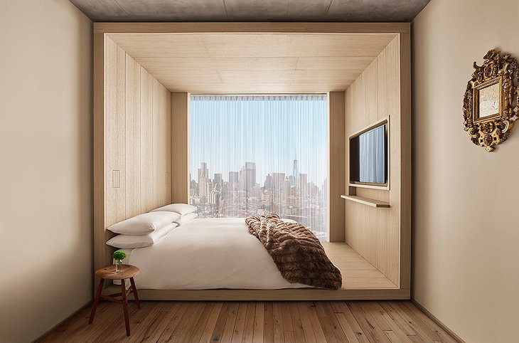 PUBLIC Hotel New York Bedroom With Manhattan View