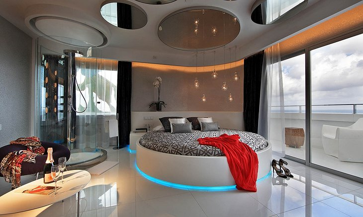 Ushuaia Ibiza Hotel Room With Rounded Bed