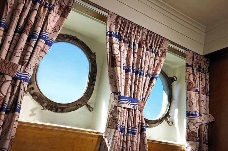Queen Mary Ship Hotel Rounded Bedroom Windows
