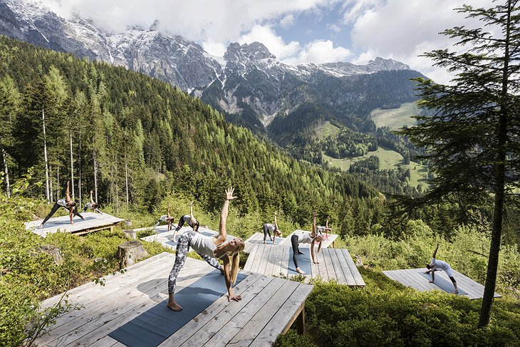 Magical Outdoor Yoga Class In The Alps