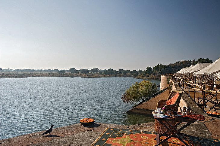 Chhatra Sagar terrace lake views