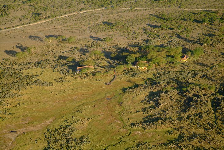 Hatari Lodge from above