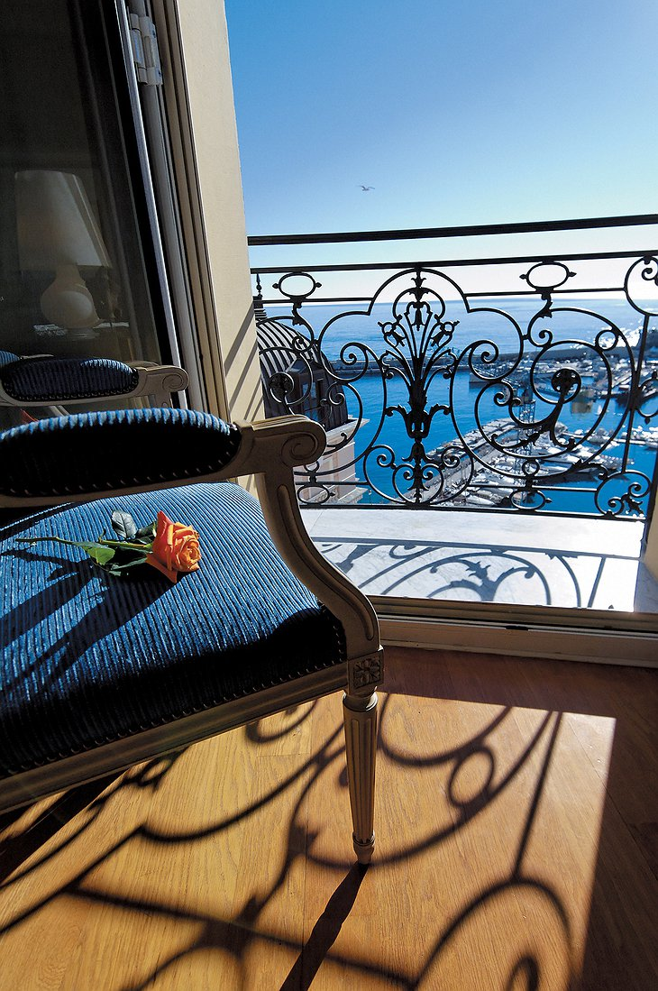 Hotel Hermitage Monte-Carlo sea view from the window