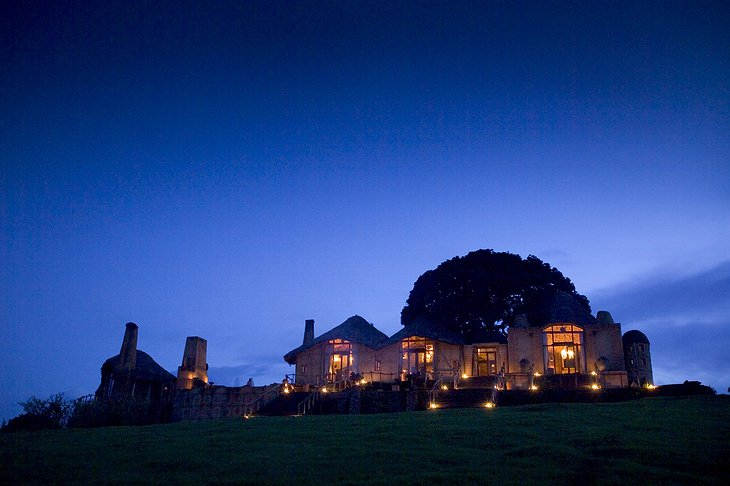 Ngorongoro Crater Lodge at night