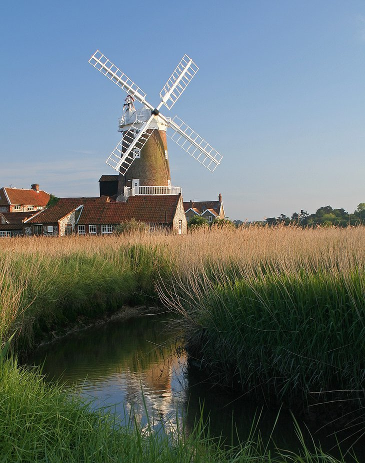 Cley Windmill and a small river
