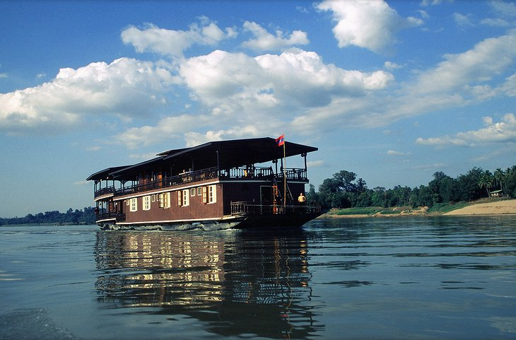 Vat Phou Boat cruise in Pakse, Laos