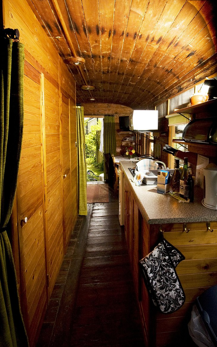 The Old Luggage Van kitchen