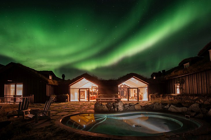 Deplar Farm Northern Lights and outdoor pools