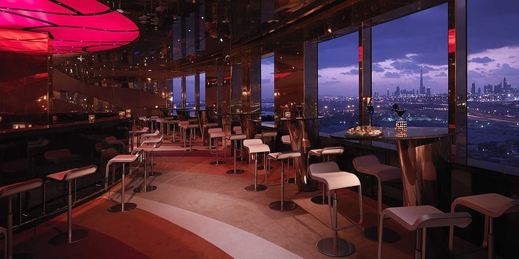 InterContinental Dubai Festival City bar with panorama