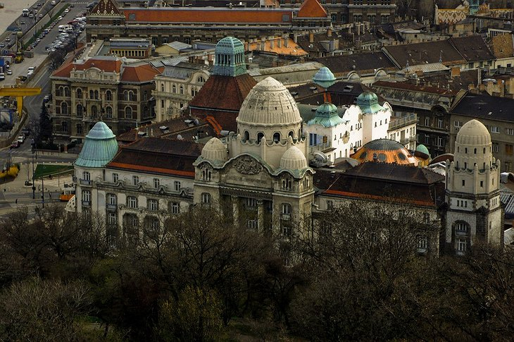 Hotel Gellert from above
