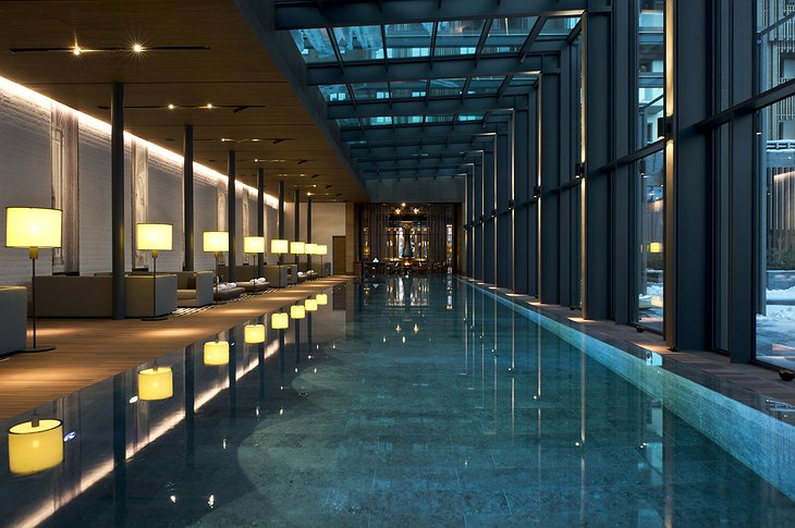 The Chedi Andermatt indoor pool