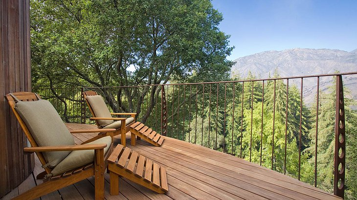 Post Ranch Inn private wooden terrace