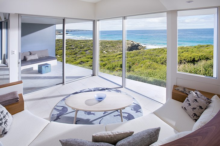 Southern Ocean Lodge room with view on the sea