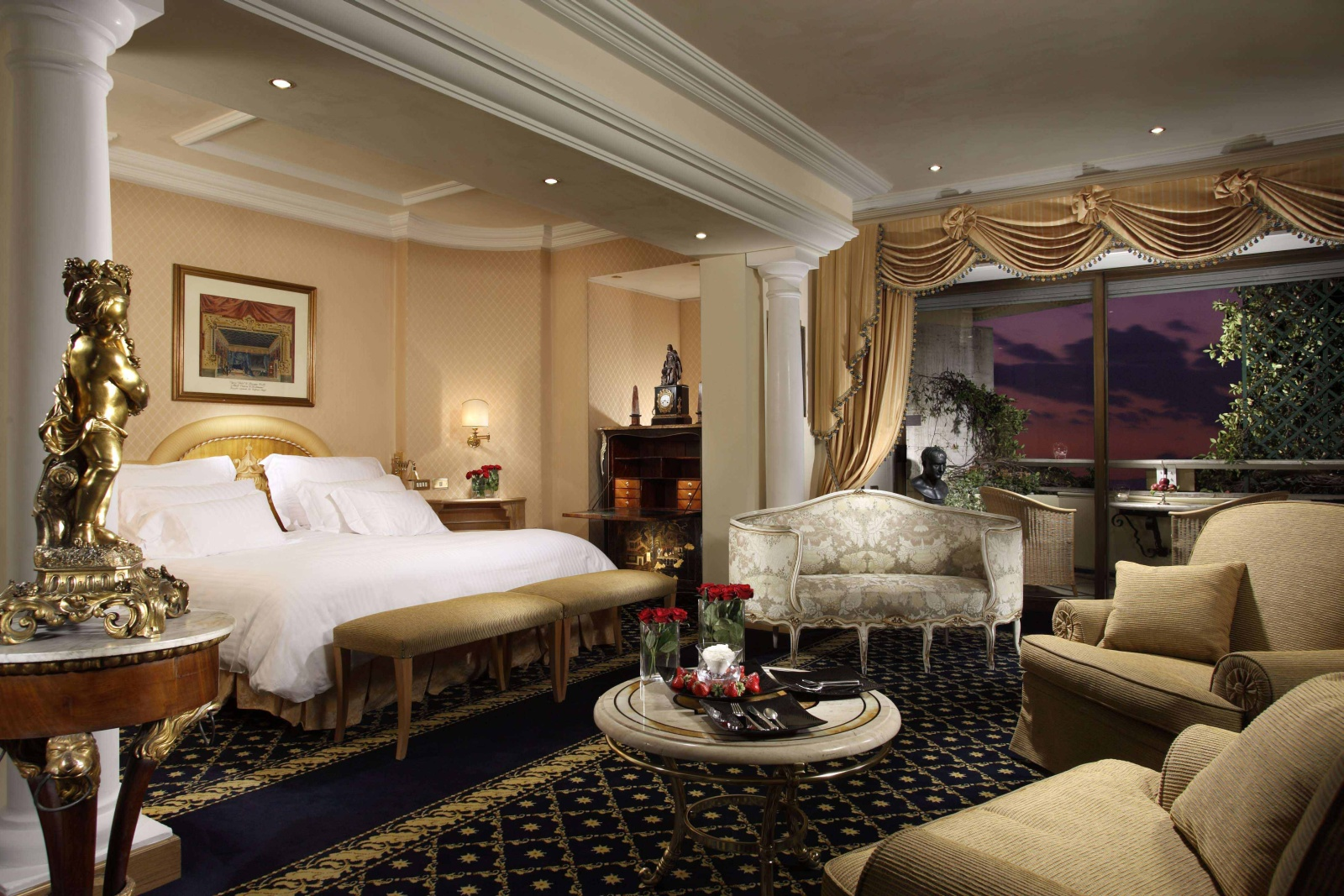 Rome cavalieri for Top design hotels rome
