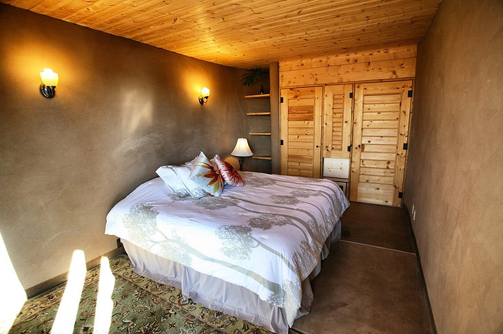 Earthship Bedroom from Hall