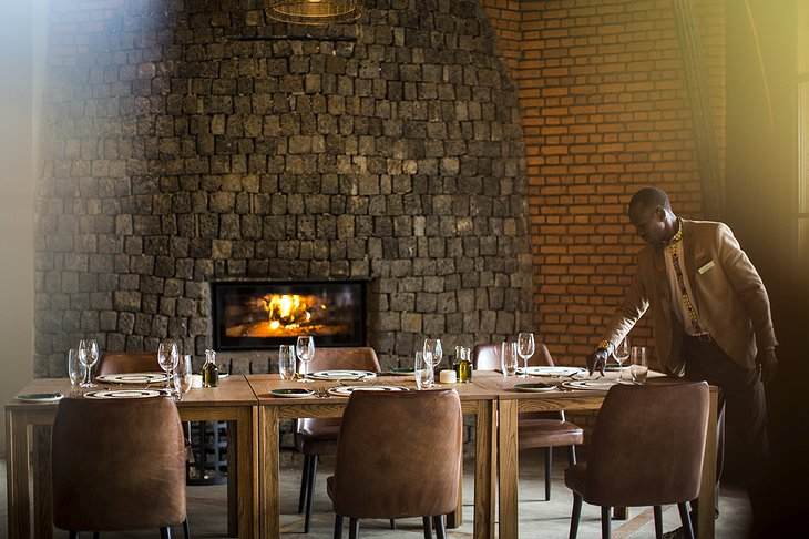 Bisate Lodge luxury dining
