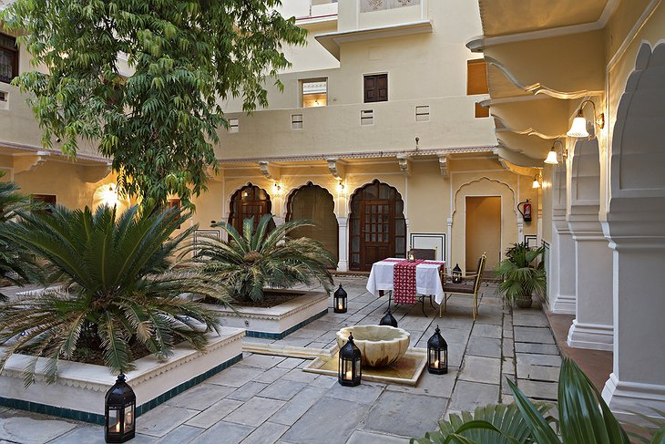Samode Haveli courtyard