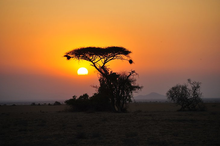 Arusha National Park sunset