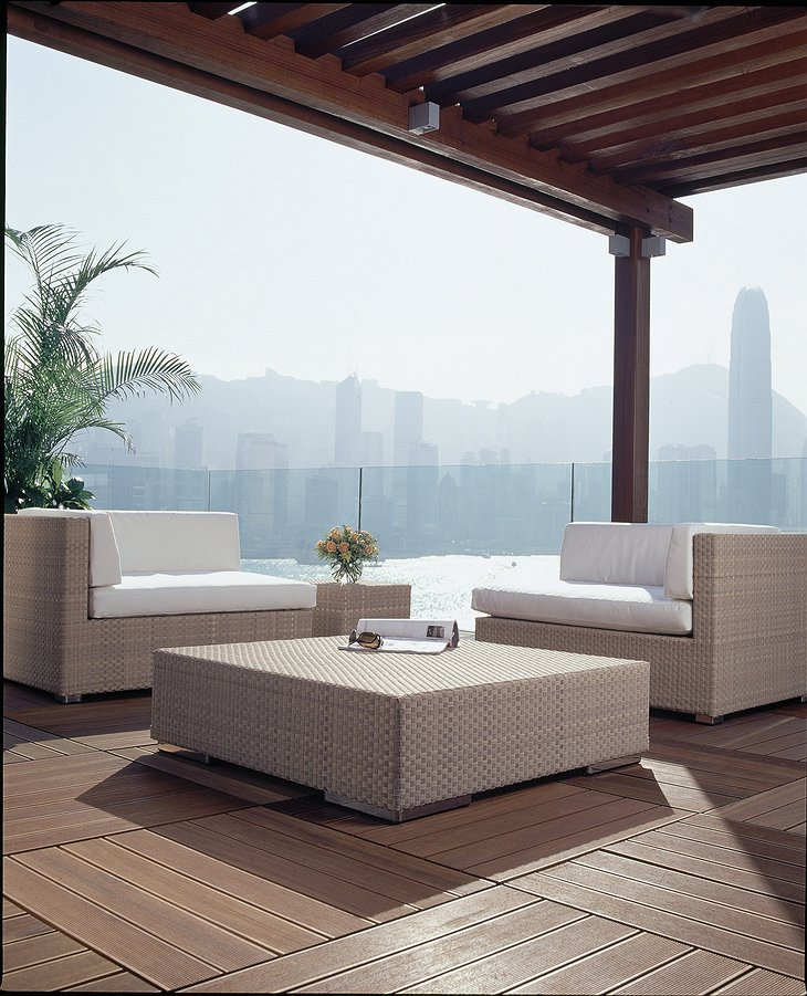 InterContinental Hong Kong Presidential Suite outdoor terrace