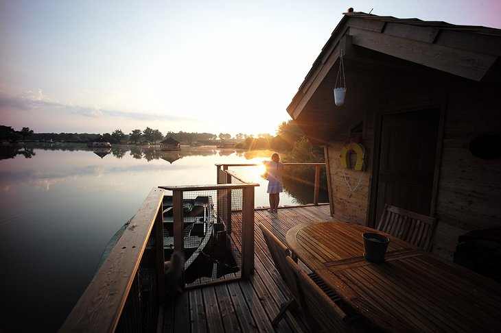 Sunrise view from Floating Village