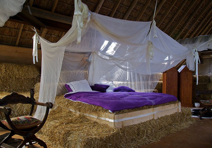 Bed in the barn