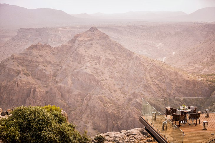 Anantara Al Jabal Al Akhdar Resort cliff terrace