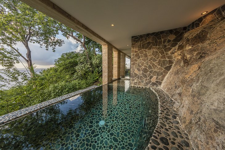 Mustique Island indoor-outdoor pool