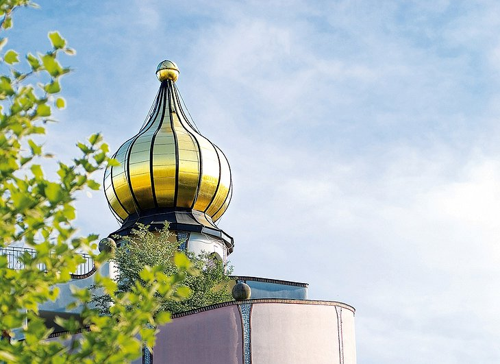 Golden dome on Rogner Bad Blumau