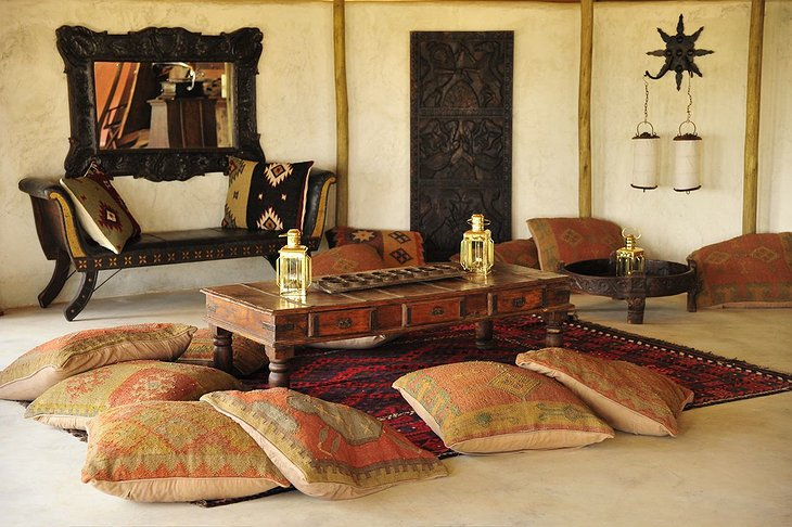 Shu'mata Camp rugs and pillows