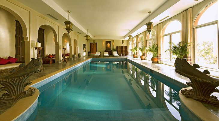Kasbah Tamadot inside swimming pool