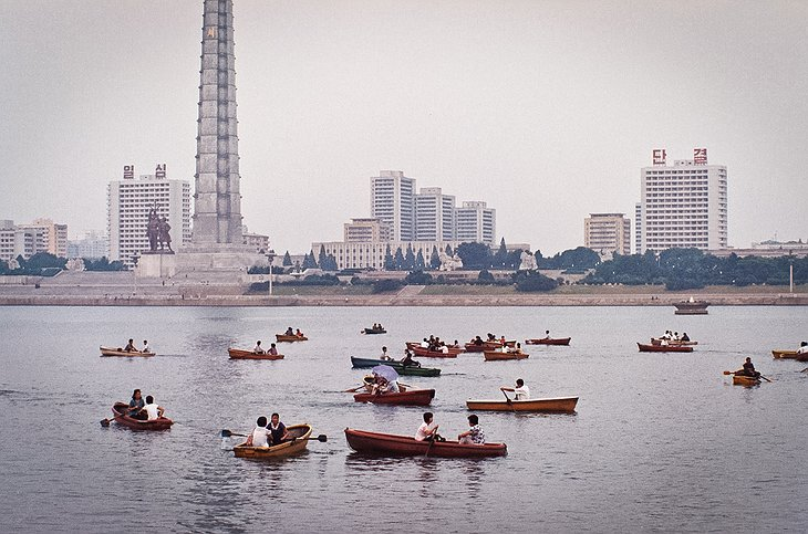 Boating on the Taedong River