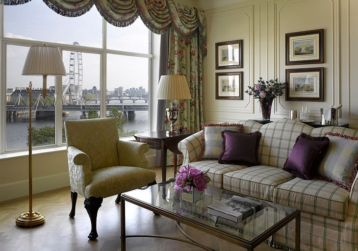 The Savoy hotel room
