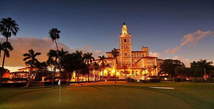 Biltmore Hotel Miami Building by Night