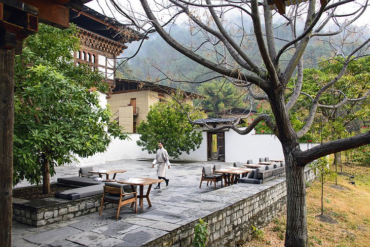 Punakha Lodge Courtyard Terrace