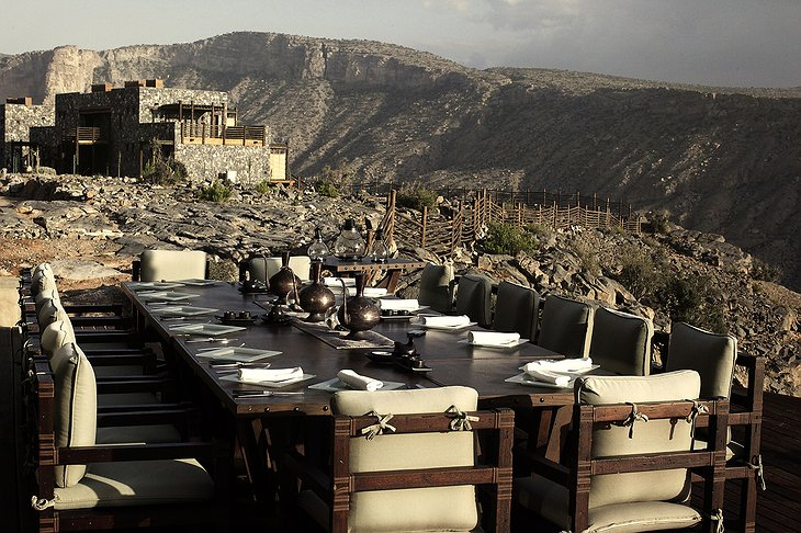 Alila Jabal Akhdar outdoor dining