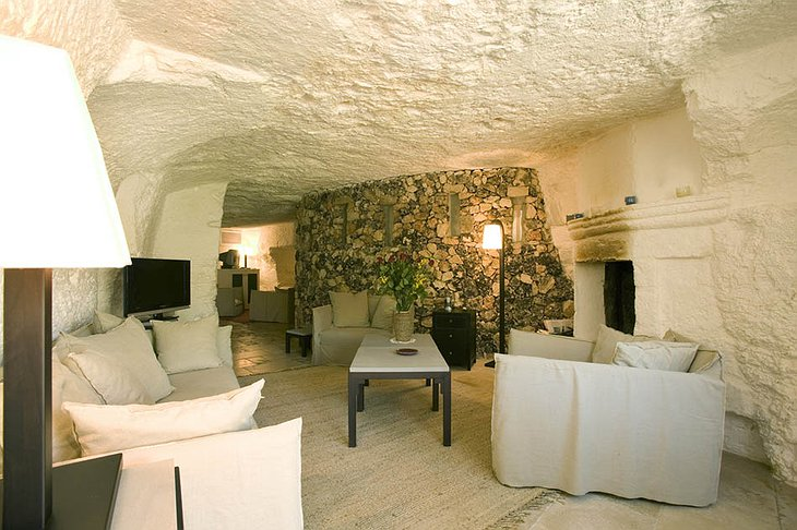 Cave room at Masseria Torre Coccaro hotel