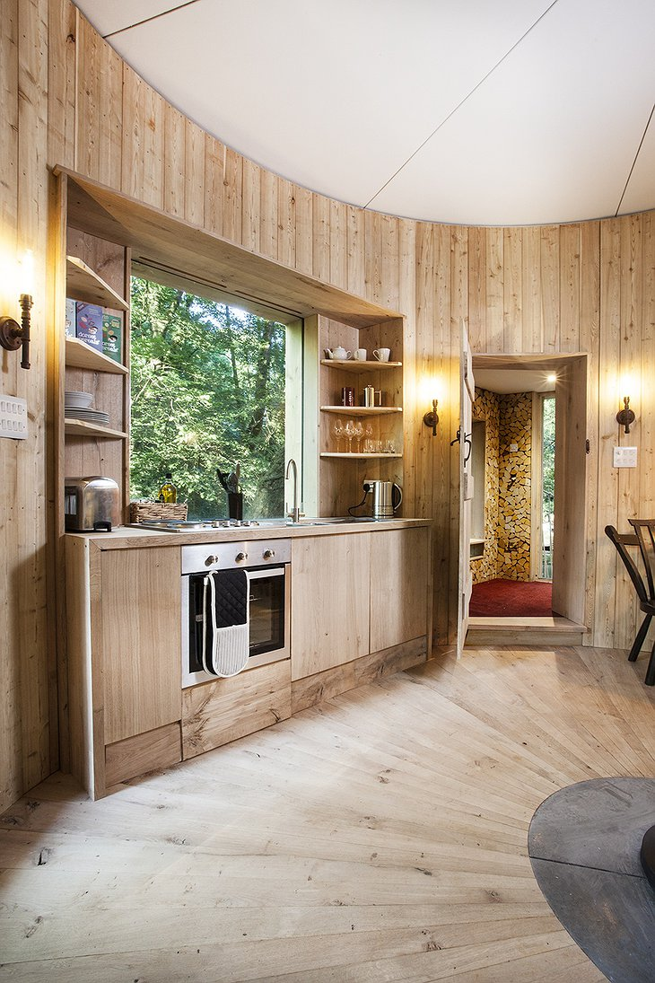 The Woodman's Treehouse kitchen