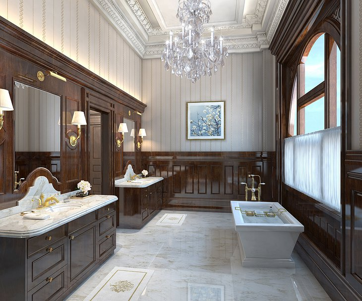 Trump International Hotel Washington Presidential Suite bathroom