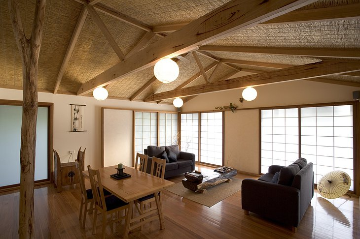 Japanese Zen Retreat lounge