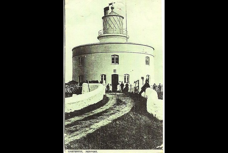 West Usk Lighthouse Vintage Photo from the 19th Century