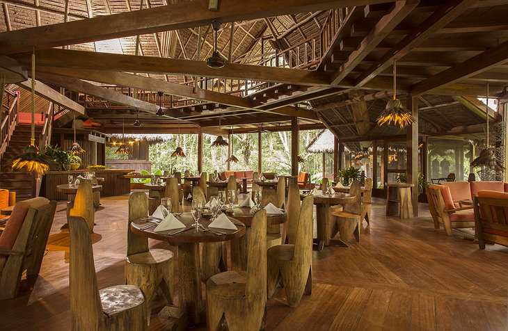 Inkaterra Reserva Amazonica Lodge Dining Room Wooden Furniture