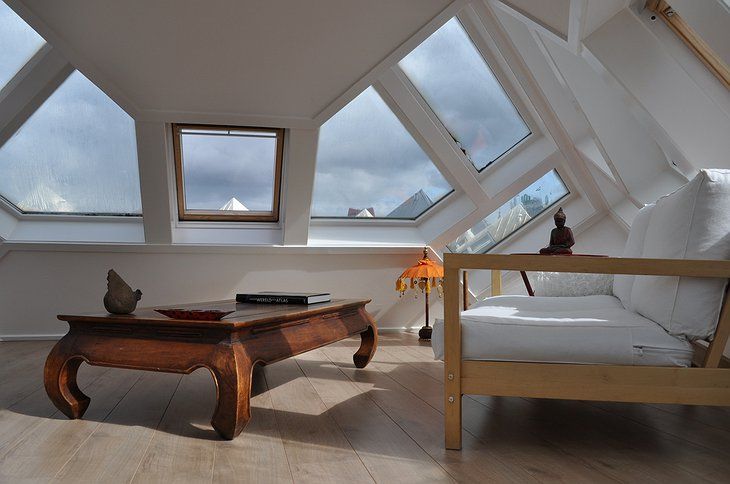 The Cube House attic