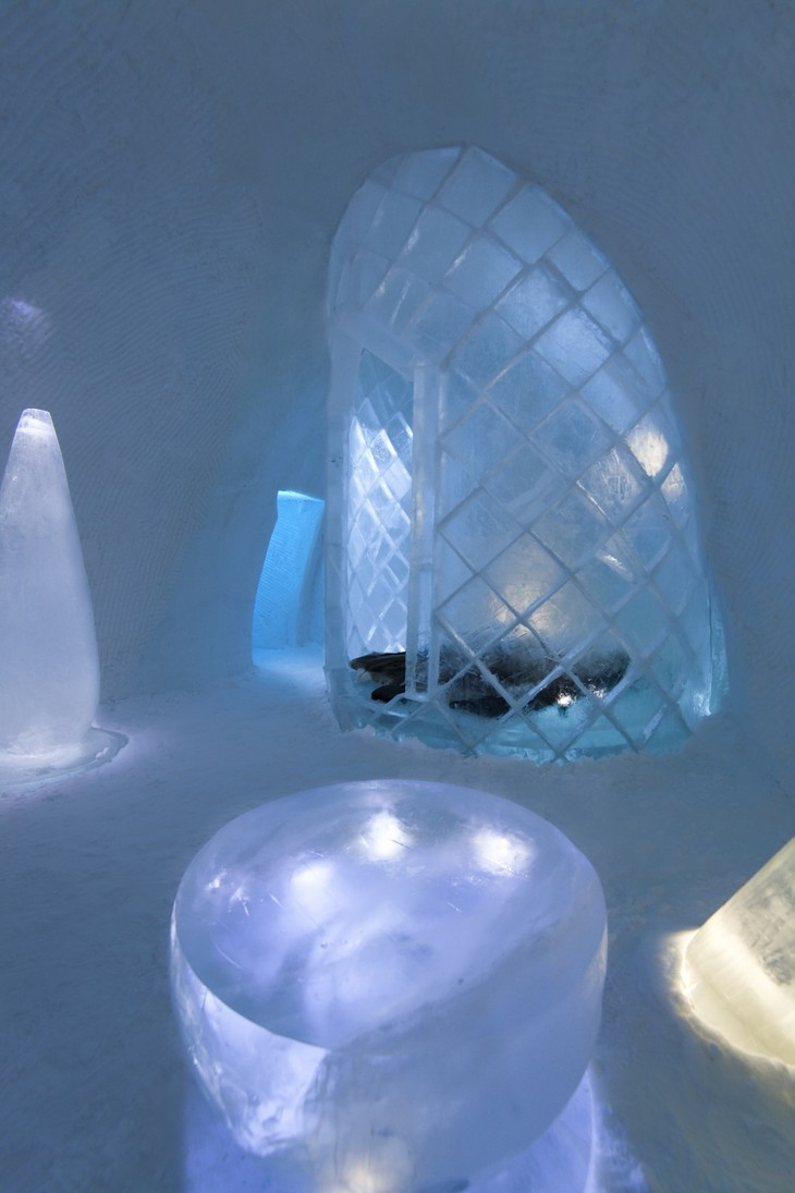 Source of Life ice hotel room