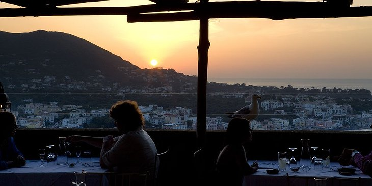 Dining at sunset at Albergo Il Monastero hotel