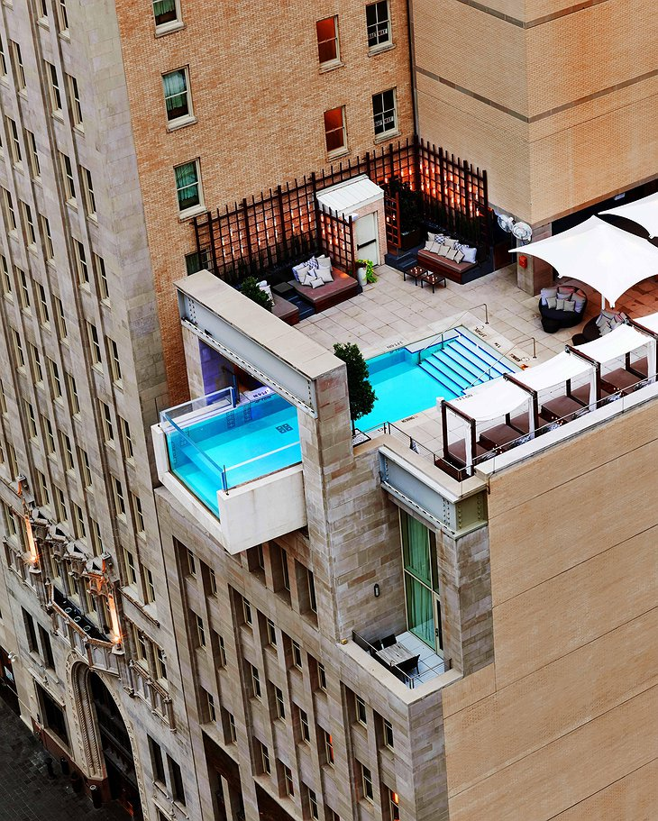The Joule Dallas Cantilevered Pool