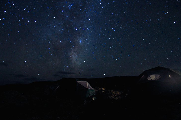 Starry night at the EcoCamp Suites Dome
