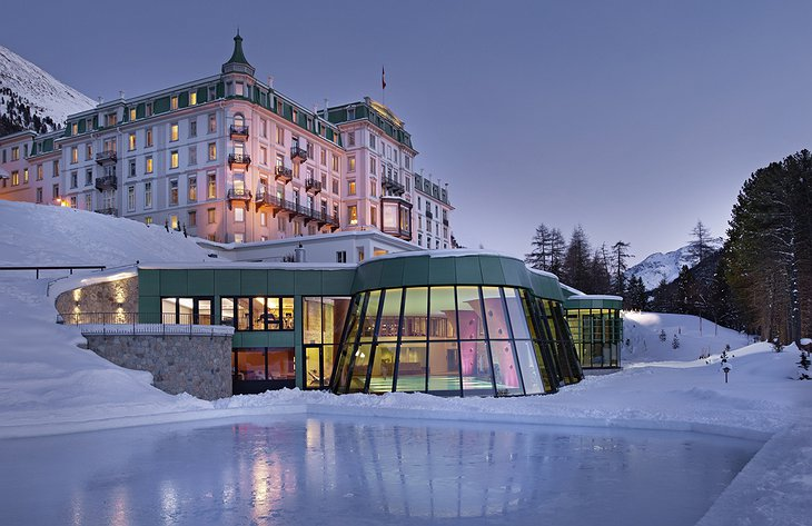 Grand Hotel Kronenhof in the winter