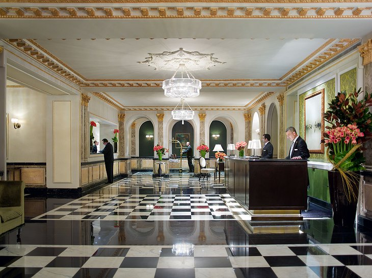 The Pierre Hotel front desk