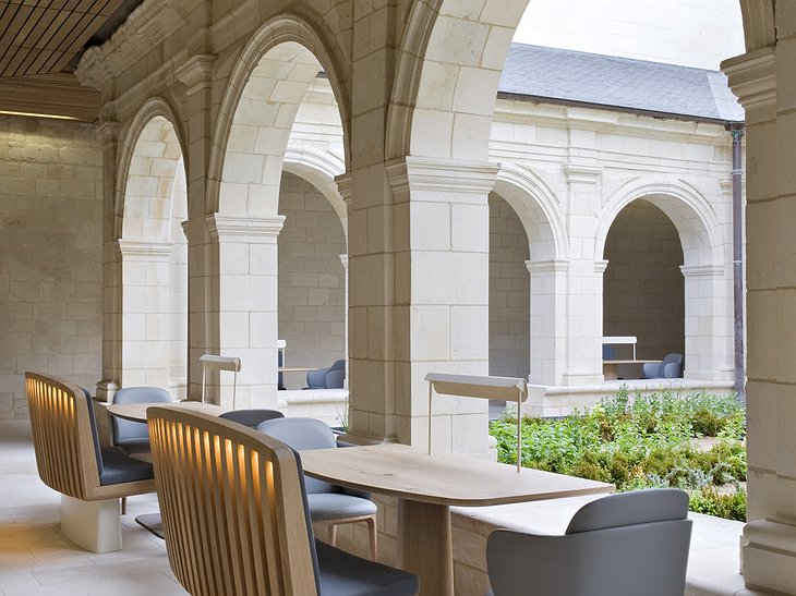 Fontevraud Hotel terrace dining